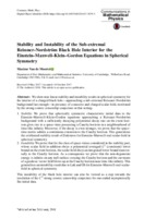 Stability and Instability of the Sub-extremal Reissner–Nordström