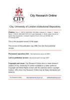 City Research Online - State of the Art of Sports Data