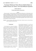 A stabilised finite element method for the convection