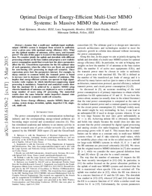 Optimal Design of Energy-Efficient Multi-User MIMO Systems: Is