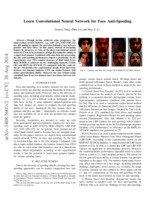Detection of face spoofing using visual dynamics - Middlesex