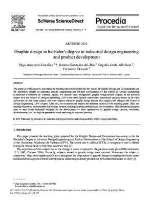 Graphic Design In Bachelor S Degree In Industrial Design Engineering And Product Development Core Reader