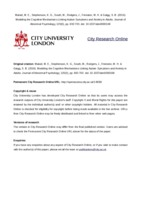 City Research Online - Modeling the Cognitive Mechanisms