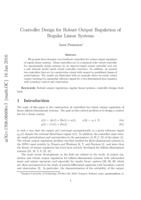 Controller design using linear programming for systems with