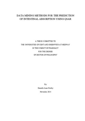Data mining methods for the prediction of intestinal absorption ...