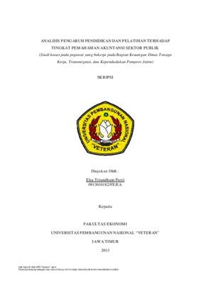 Analisis Pengaruh Pendidikan Dan Pelatihan Terhadap Tingkat