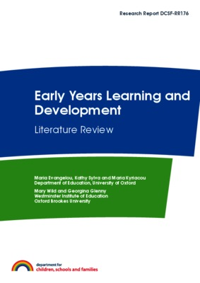 Thinking Skills in the Early Years  A Literature Review  Geoff