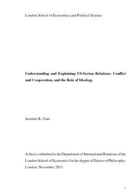 Understanding and explaining US-Syrian relations: conflict