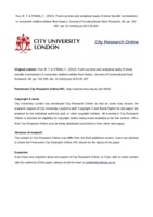 City Research Online - Experimental and analytical study of