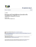 keeping and using reflective journals in the qualitative research process