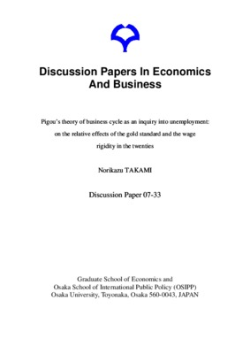 Pigou's theory of business cycle as an inquiry into