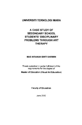 A case study of secondary school students' disciplinary