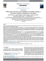 Effects of Plyometric and Directional Training on Speed and