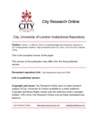 City Research Online - Developing Digital and Information